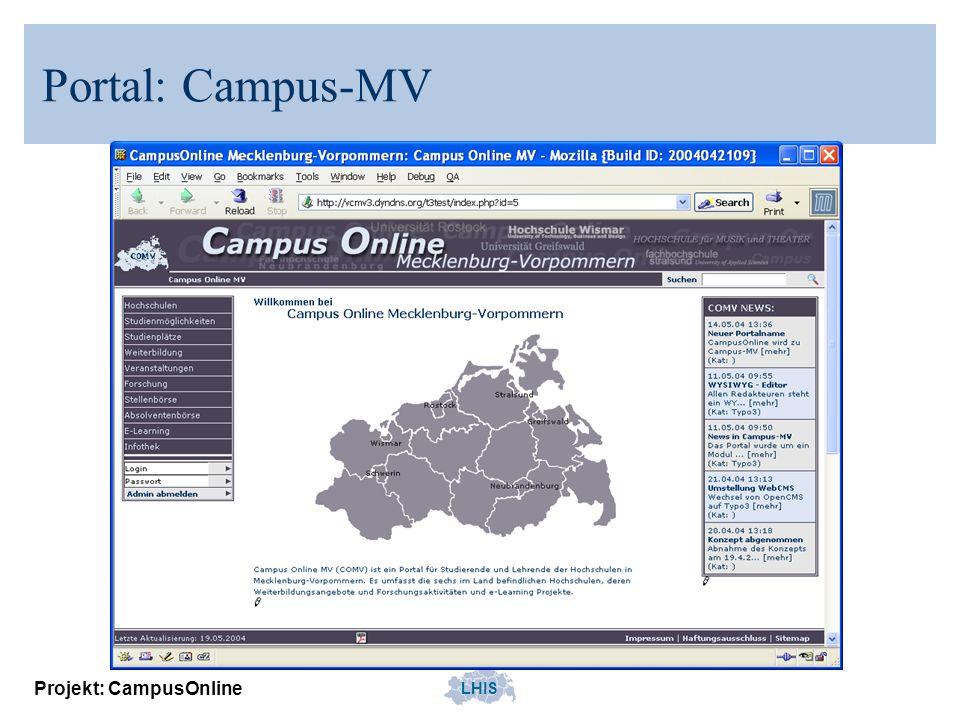 Portal: Campus-MV Projekt: CampusOnline