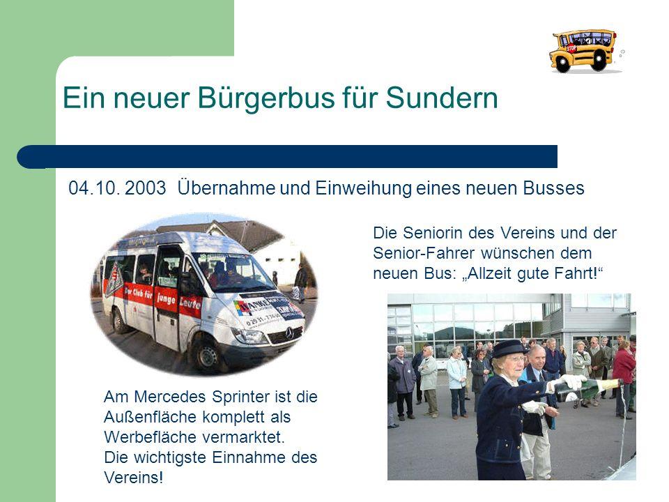 Ein neuer Bürgerbus für Sundern