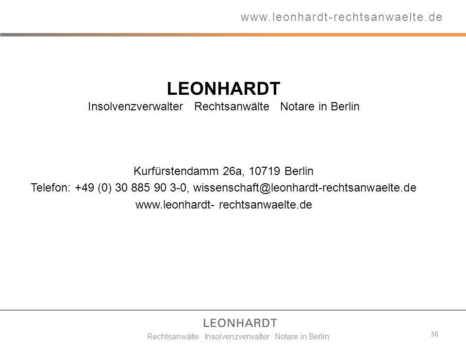 LEONHARDT www.leonhardt-rechtsanwaelte.de