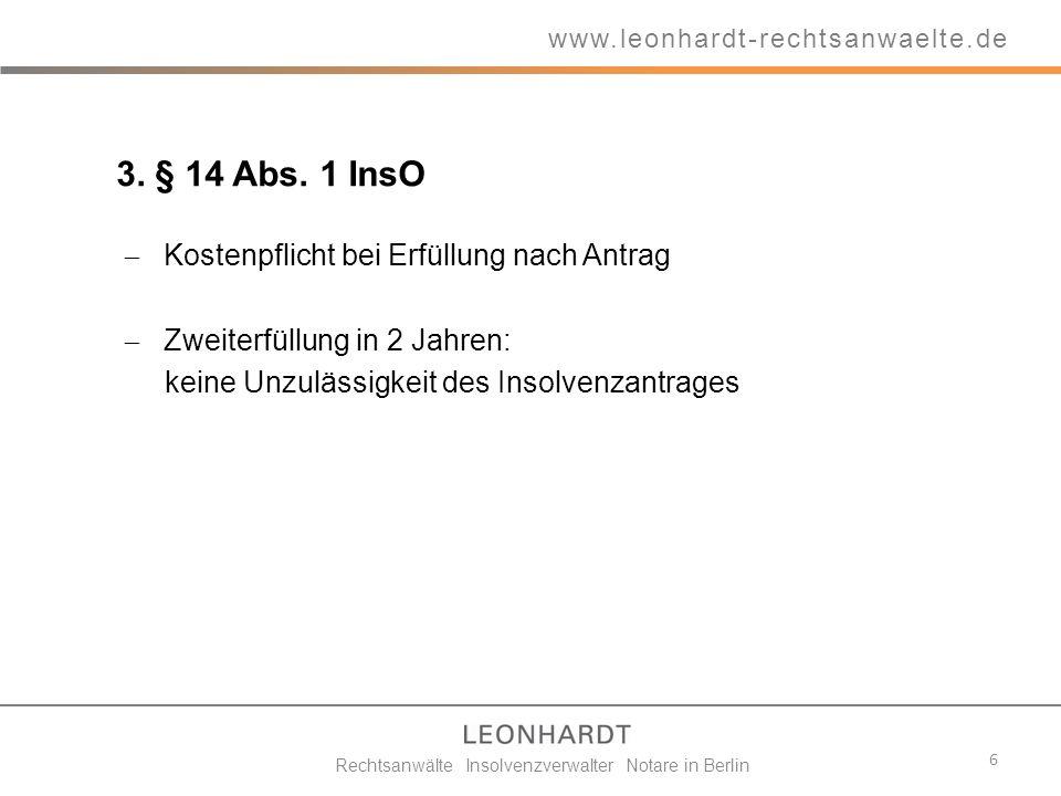 Rechtsanwälte Insolvenzverwalter Notare in Berlin