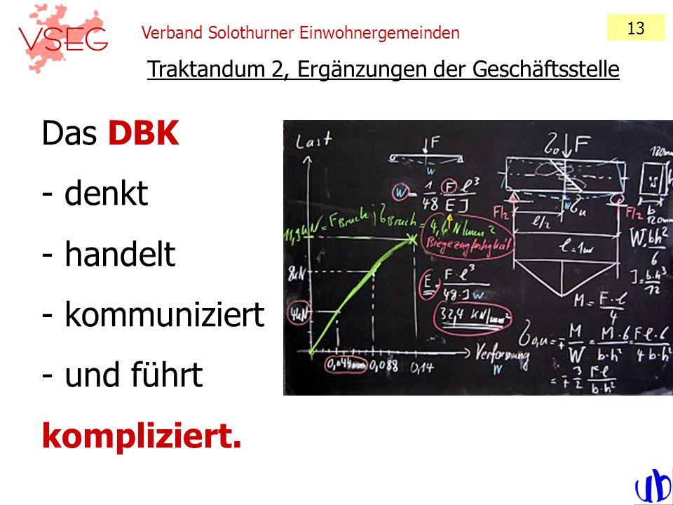 Das DBK denkt handelt kommuniziert und führt kompliziert.