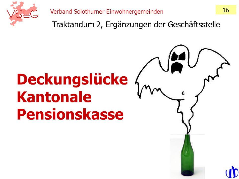 Deckungslücke Kantonale Pensionskasse