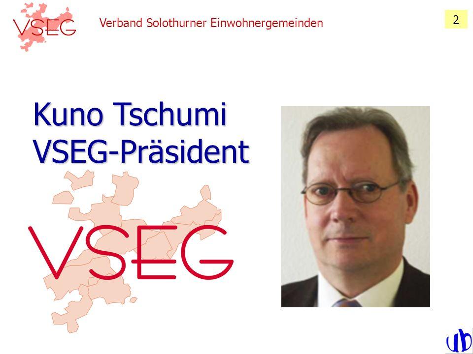 Kuno Tschumi VSEG-Präsident