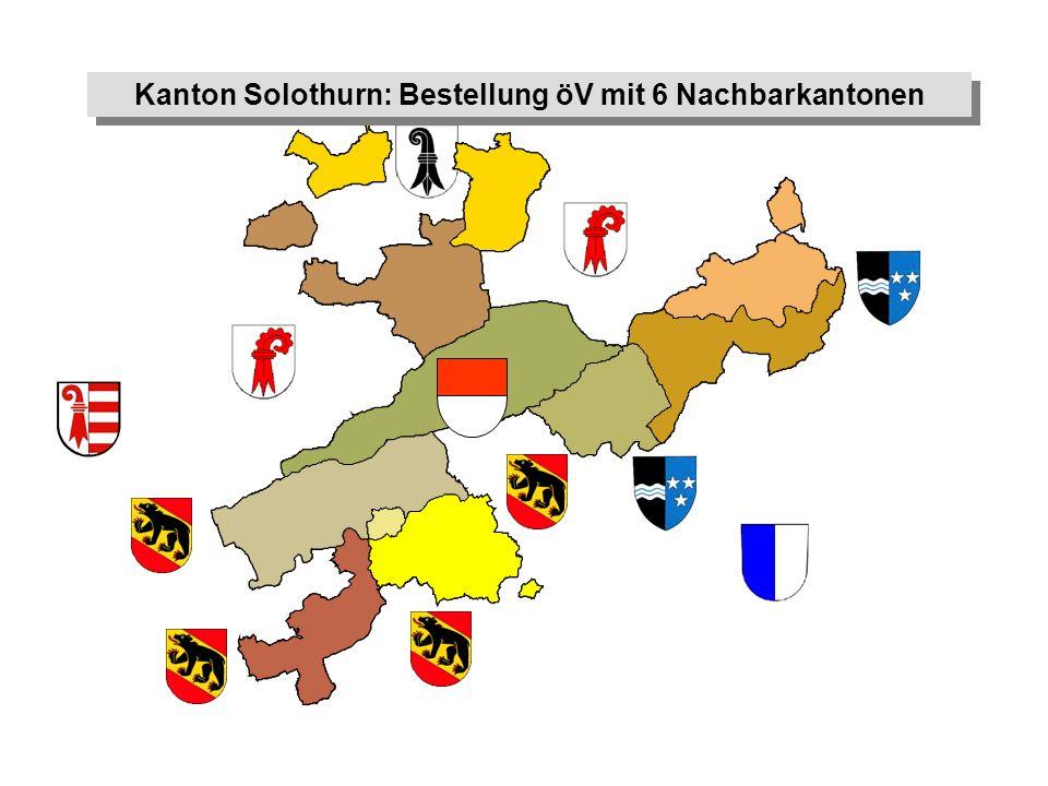 Kanton Solothurn: Bestellung öV mit 6 Nachbarkantonen