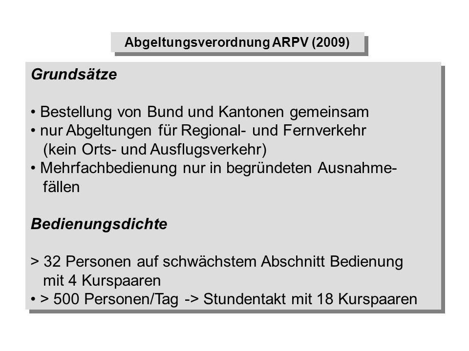 Abgeltungsverordnung ARPV (2009)