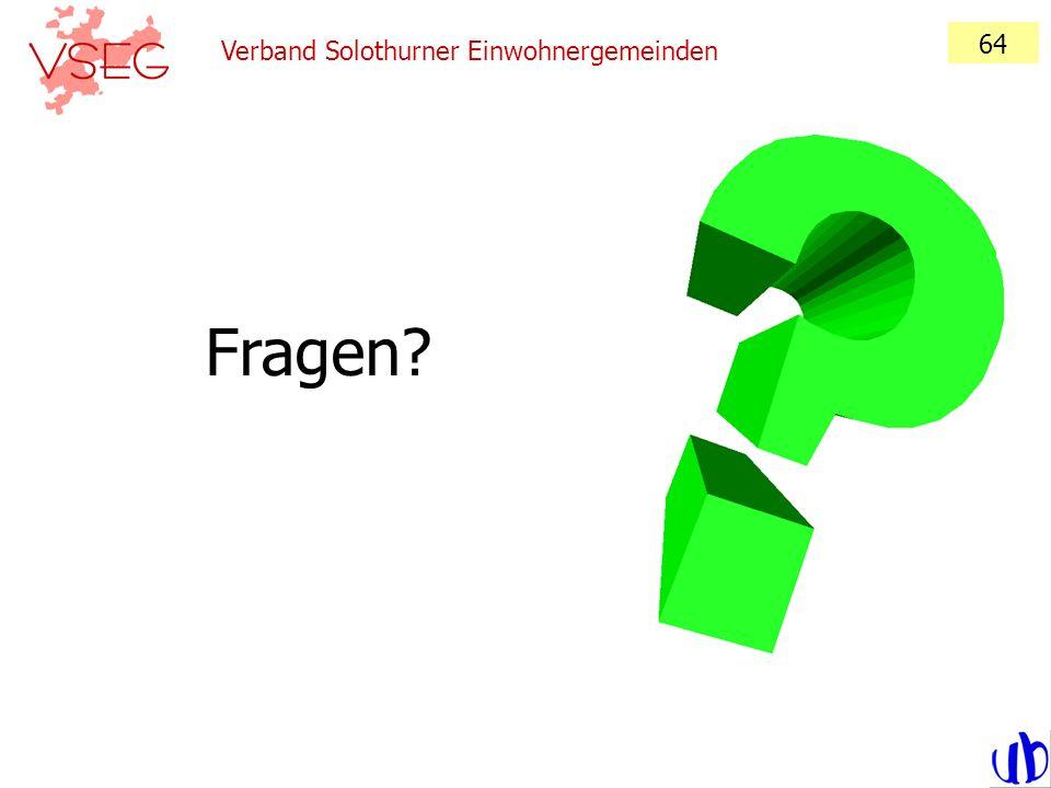 64 Verband Solothurner Einwohnergemeinden Fragen