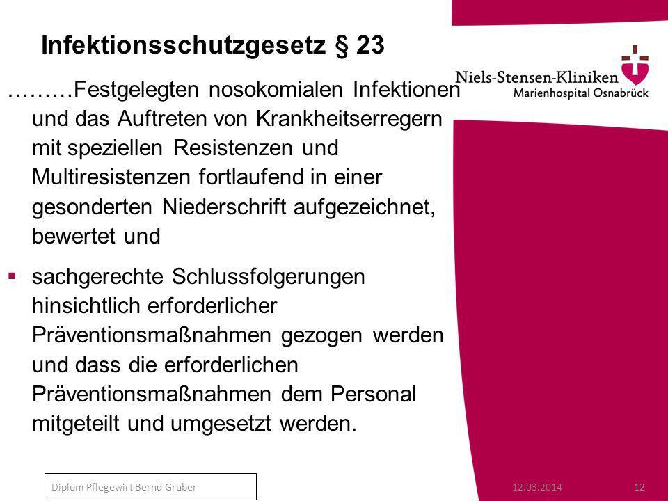 Infektionsschutzgesetz § 23