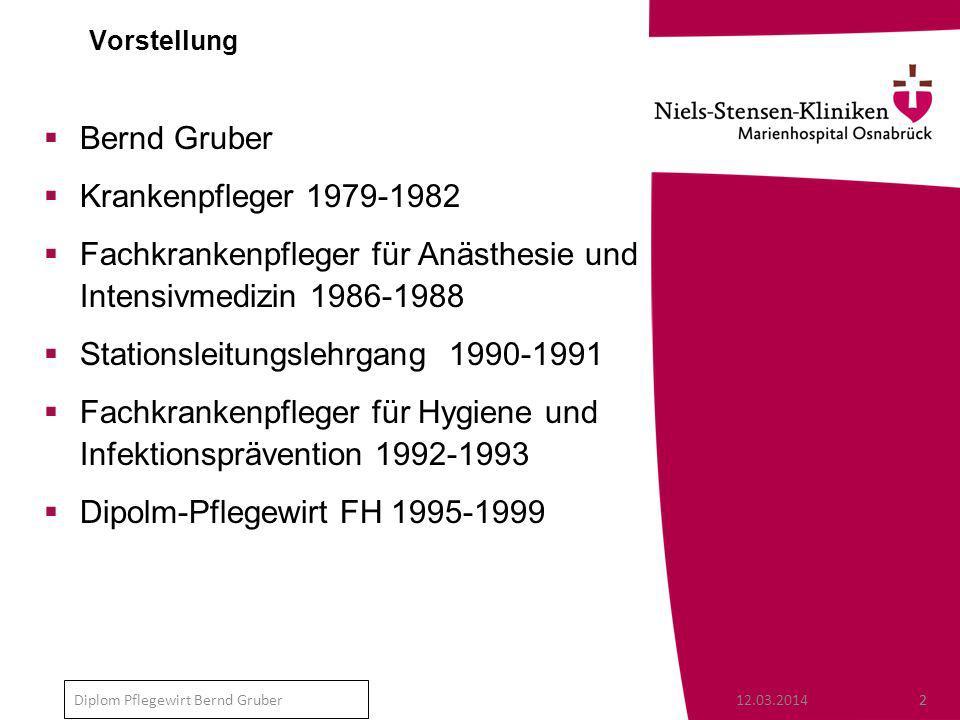 Fachkrankenpfleger für Anästhesie und Intensivmedizin 1986-1988