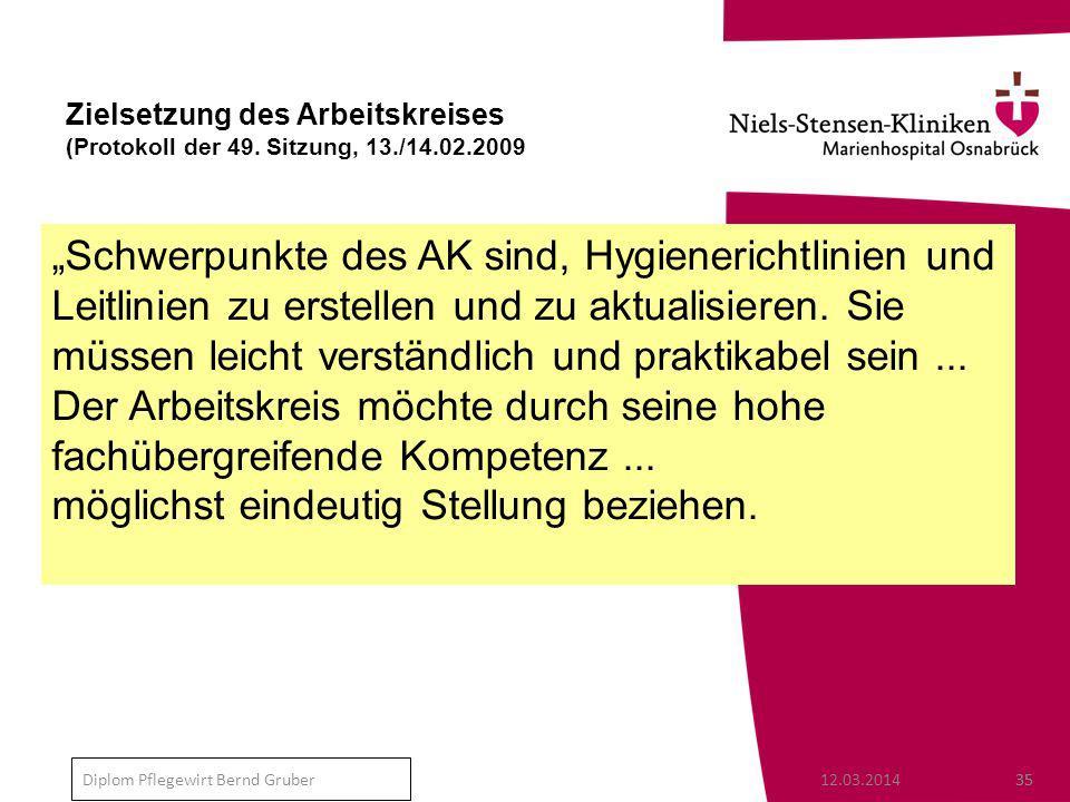 """""""Schwerpunkte des AK sind, Hygienerichtlinien und"""