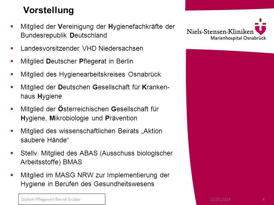 Vorstellung Mitglied der Vereinigung der Hygienefachkräfte der Bundesrepublik Deutschland. Landesvorsitzender VHD Niedersachsen.