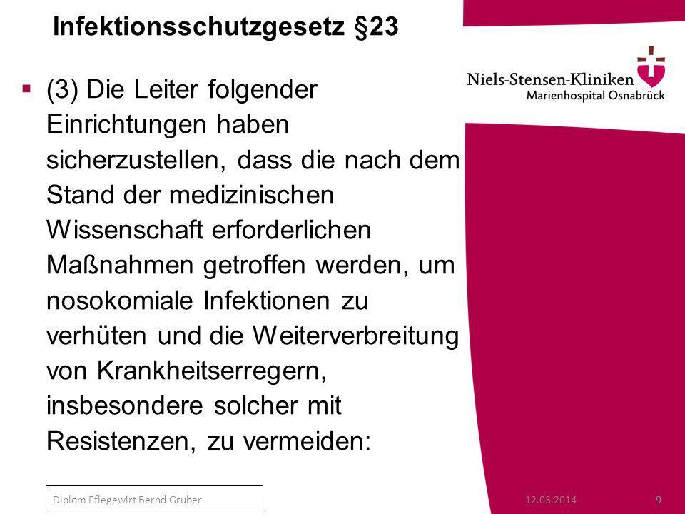 Infektionsschutzgesetz §23