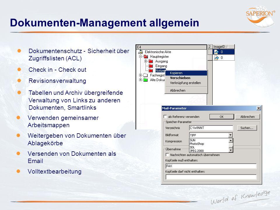 Dokumenten-Management allgemein
