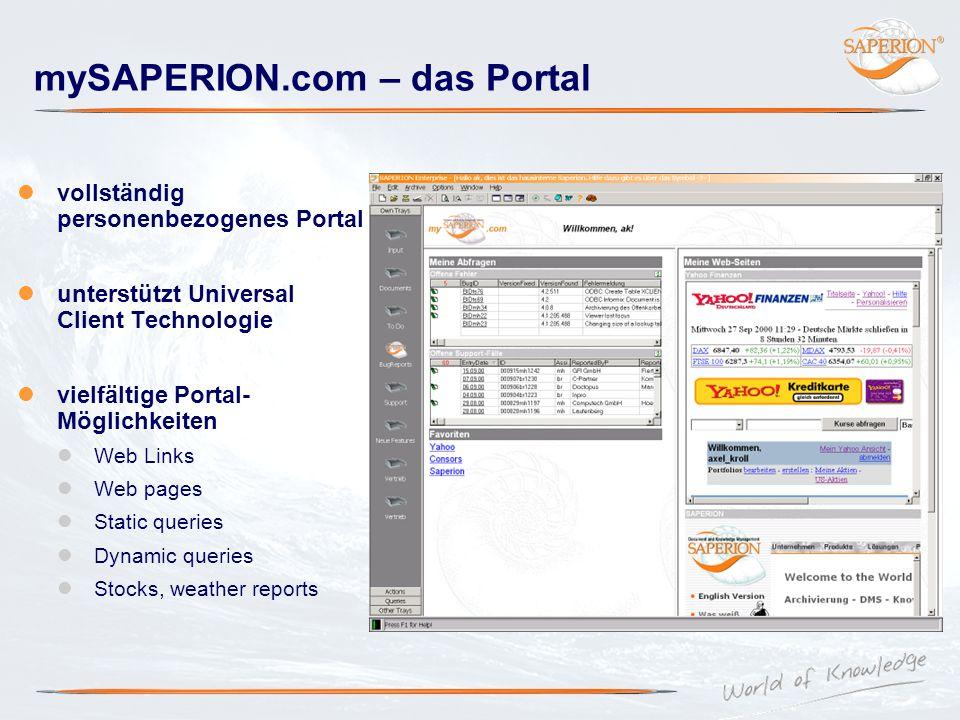mySAPERION.com – das Portal