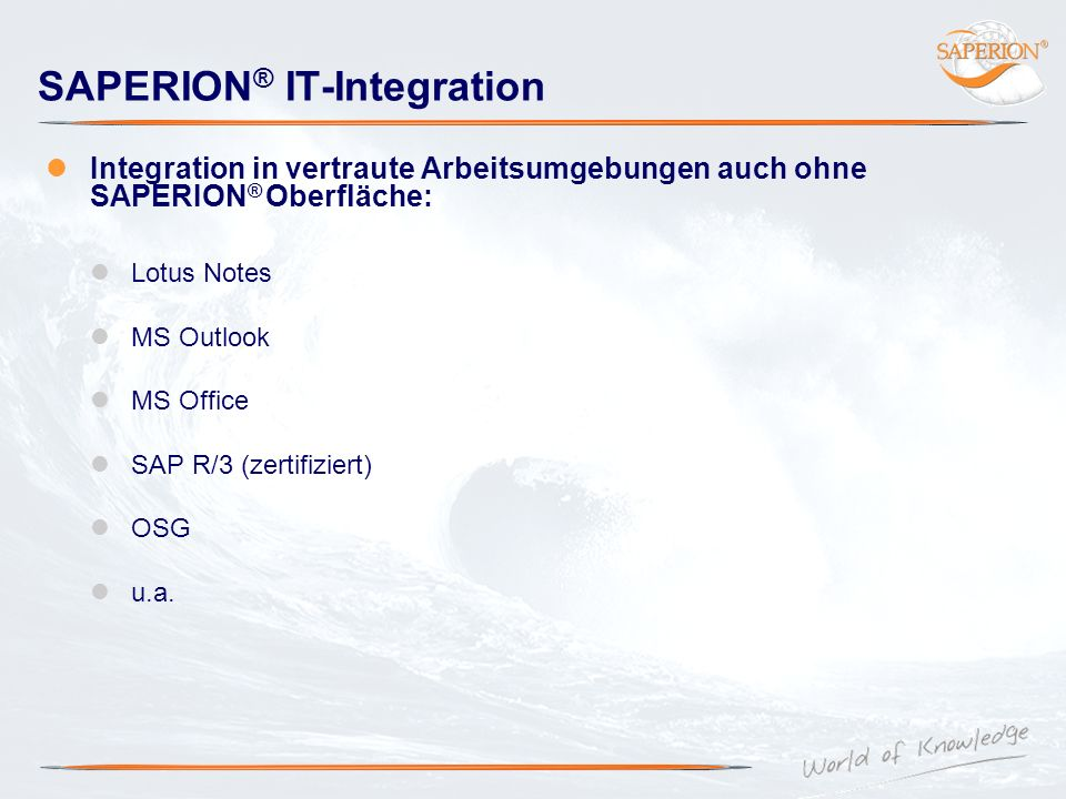 SAPERION® IT-Integration