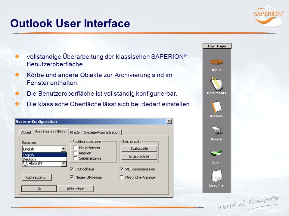 Outlook User Interface
