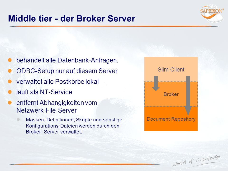 Middle tier - der Broker Server