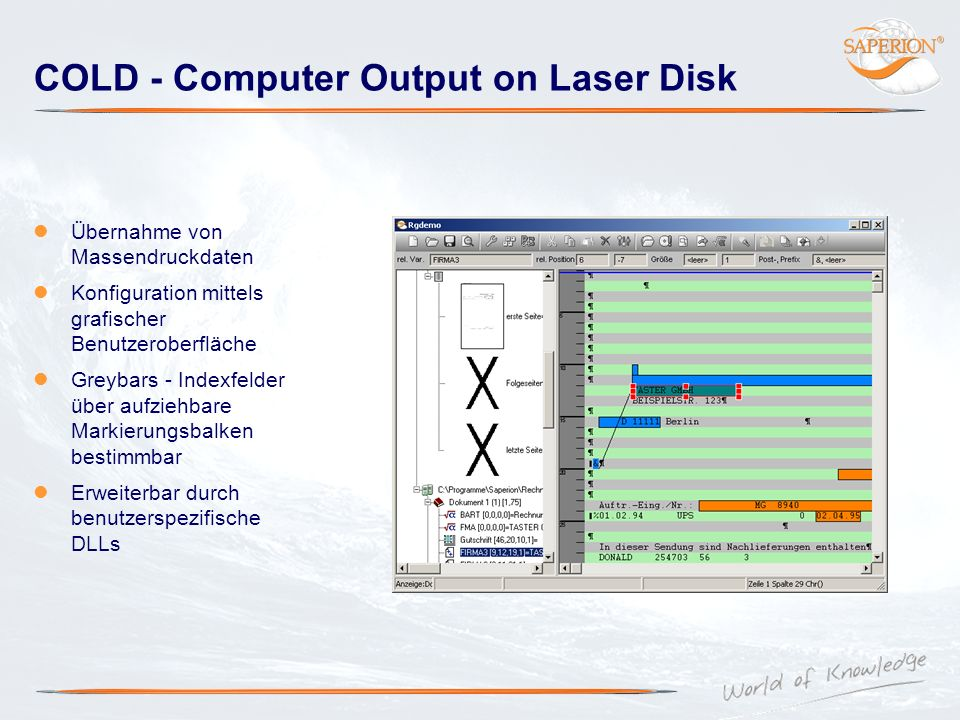 COLD - Computer Output on Laser Disk