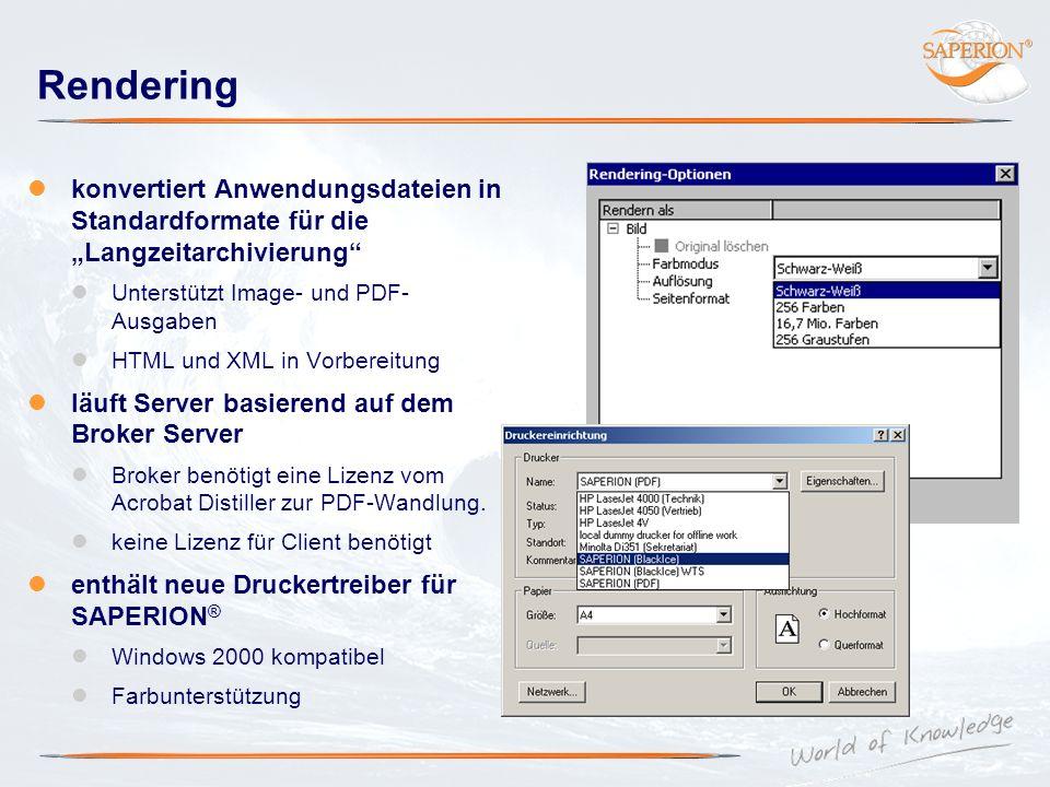 Rendering konvertiert Anwendungsdateien in Standardformate für die