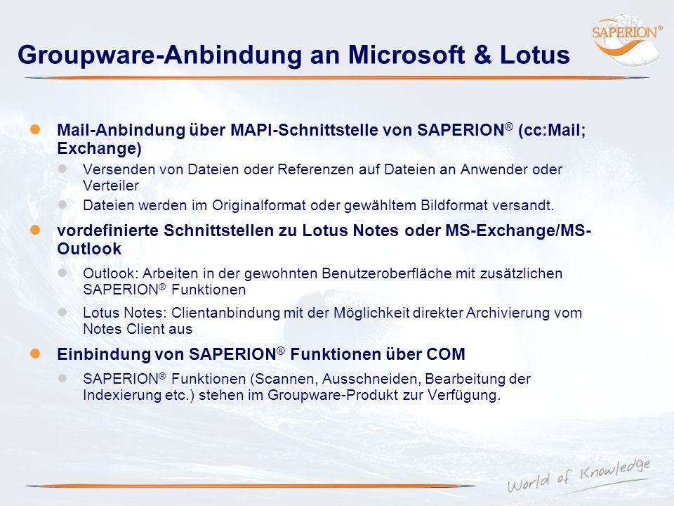Groupware-Anbindung an Microsoft & Lotus