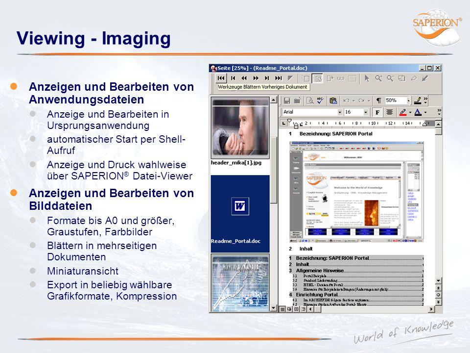 Viewing - Imaging Anzeigen und Bearbeiten von Anwendungsdateien
