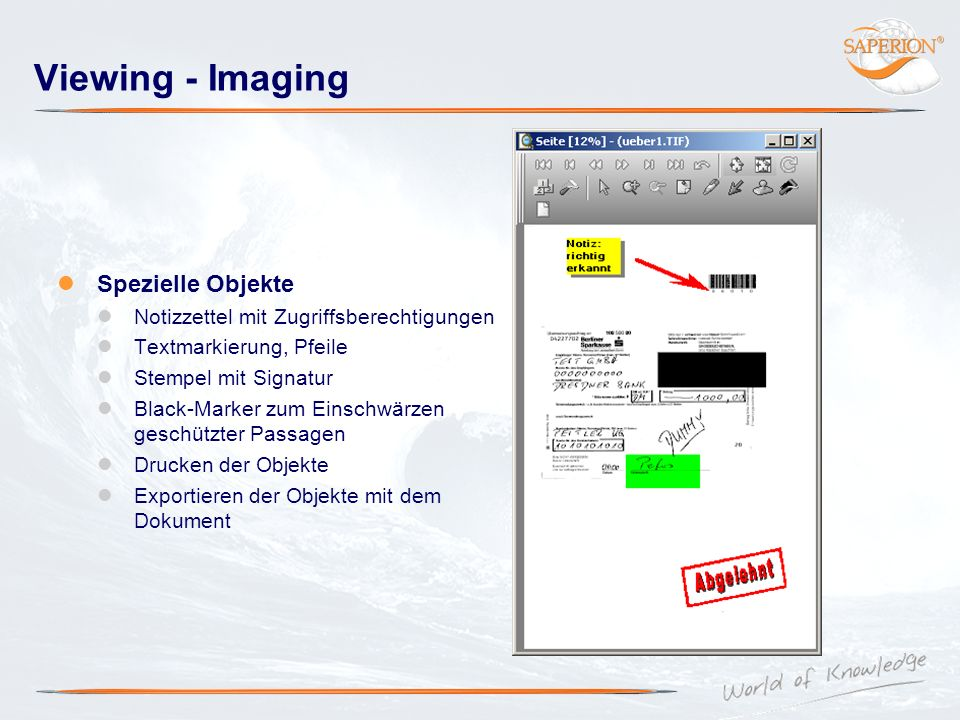 Viewing - Imaging Spezielle Objekte