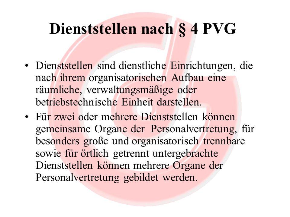 Dienststellen nach § 4 PVG