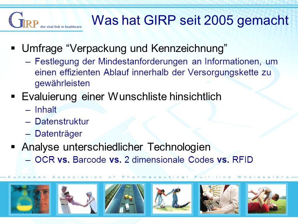 Was hat GIRP seit 2005 gemacht
