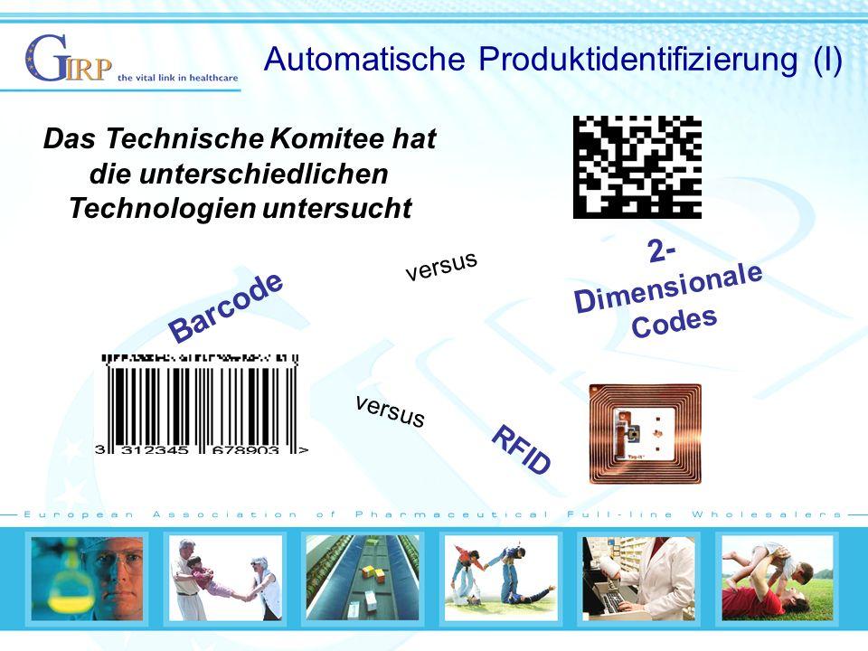 Automatische Produktidentifizierung (I)