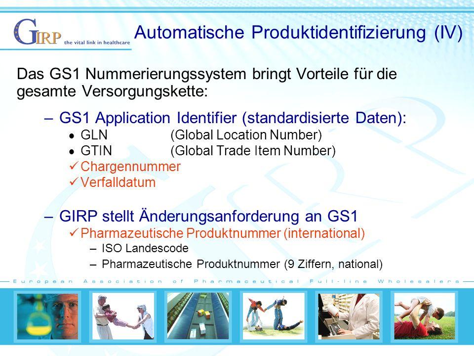 Automatische Produktidentifizierung (IV)