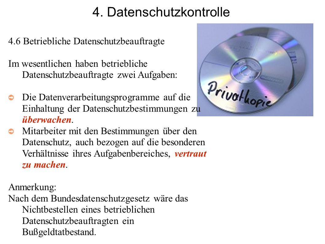 4. Datenschutzkontrolle