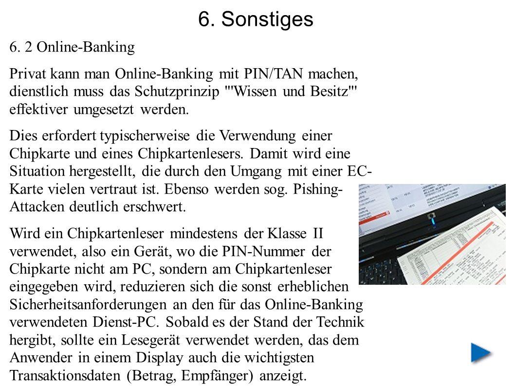6. Sonstiges 6. 2 Online-Banking