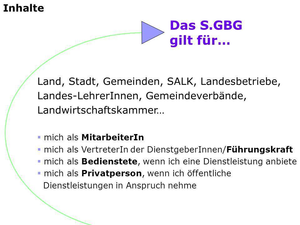 Das S.GBG gilt für… Inhalte