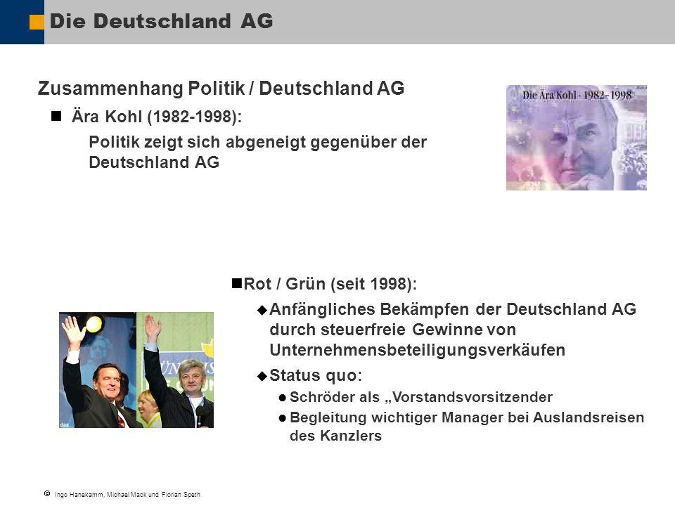 Die Deutschland AG Zusammenhang Politik / Deutschland AG