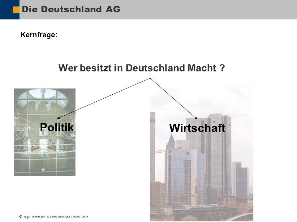 Politik Wirtschaft Wer besitzt in Deutschland Macht