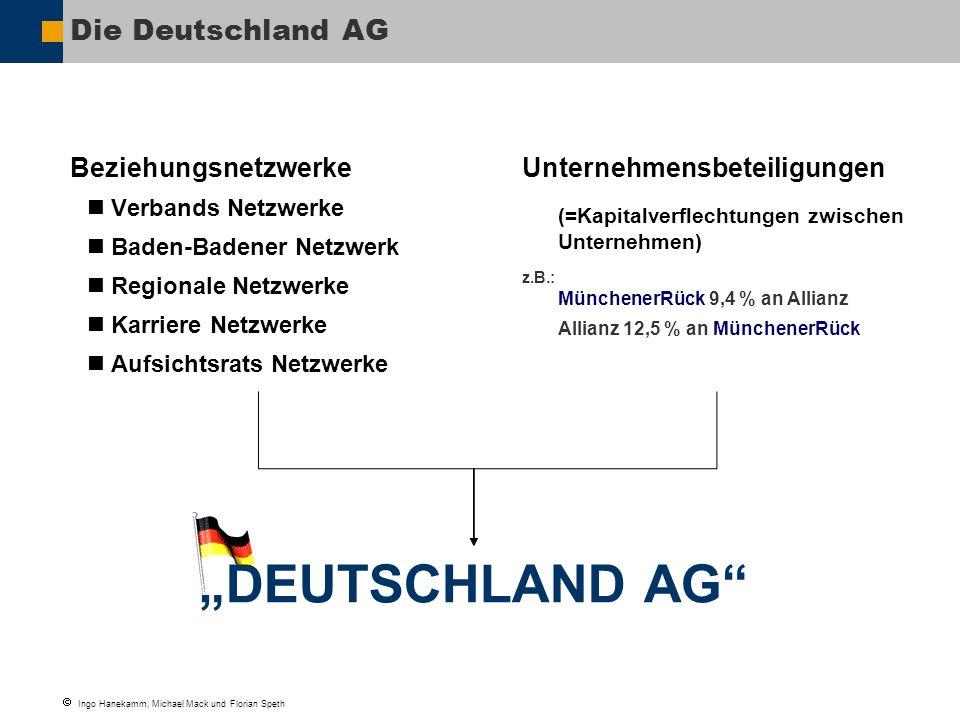 """""""DEUTSCHLAND AG Die Deutschland AG Beziehungsnetzwerke"""