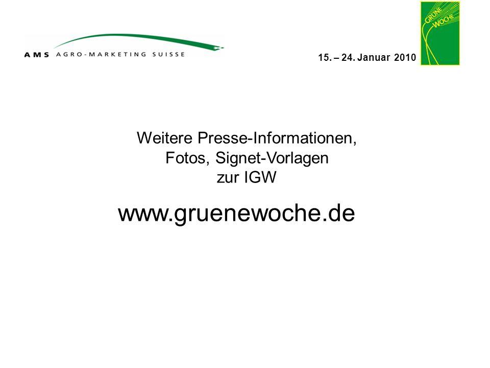www.gruenewoche.de Weitere Presse-Informationen,