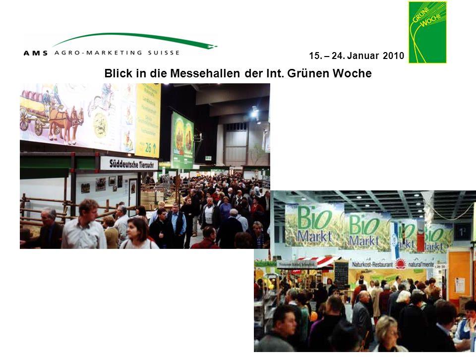 Blick in die Messehallen der Int. Grünen Woche