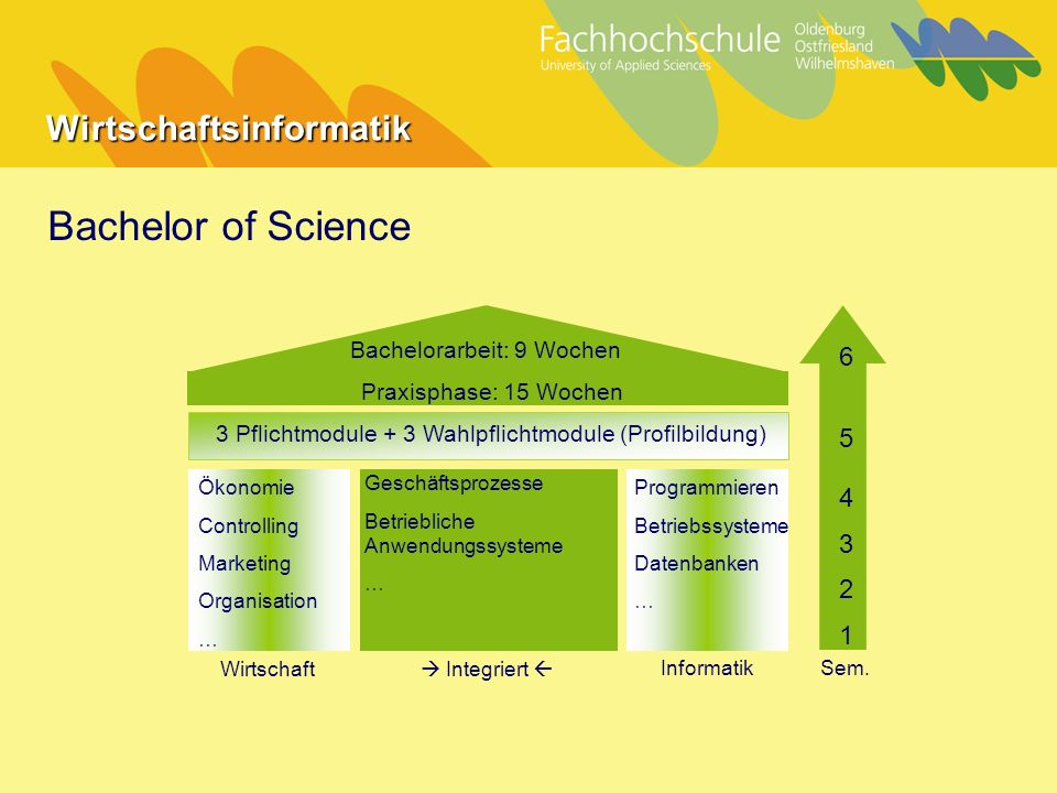 Bachelor of Science Bachelorarbeit: 9 Wochen