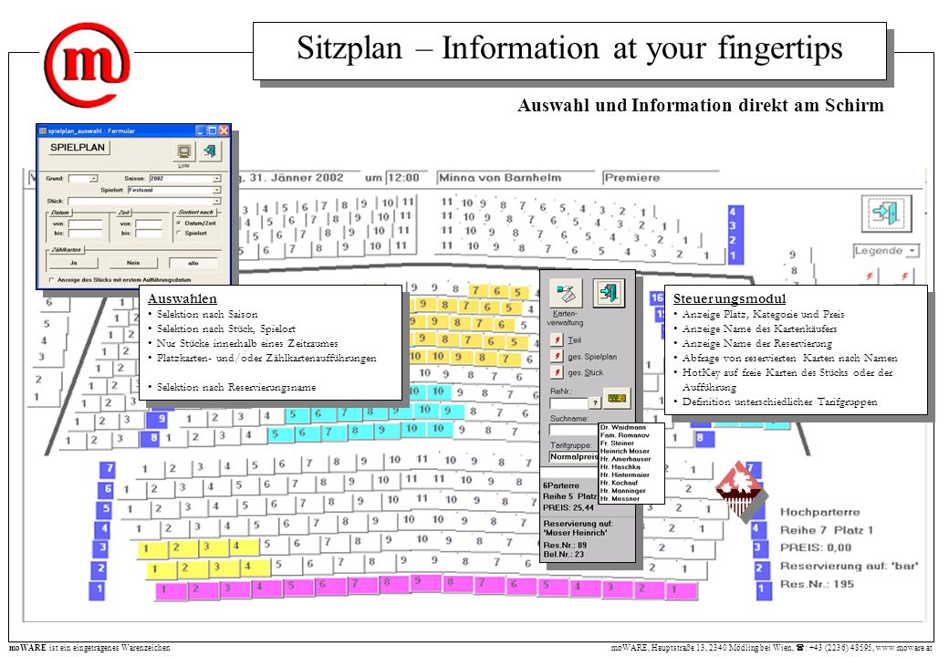 Sitzplan – Information at your fingertips