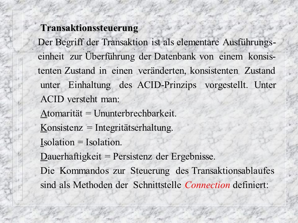 Transaktionssteuerung