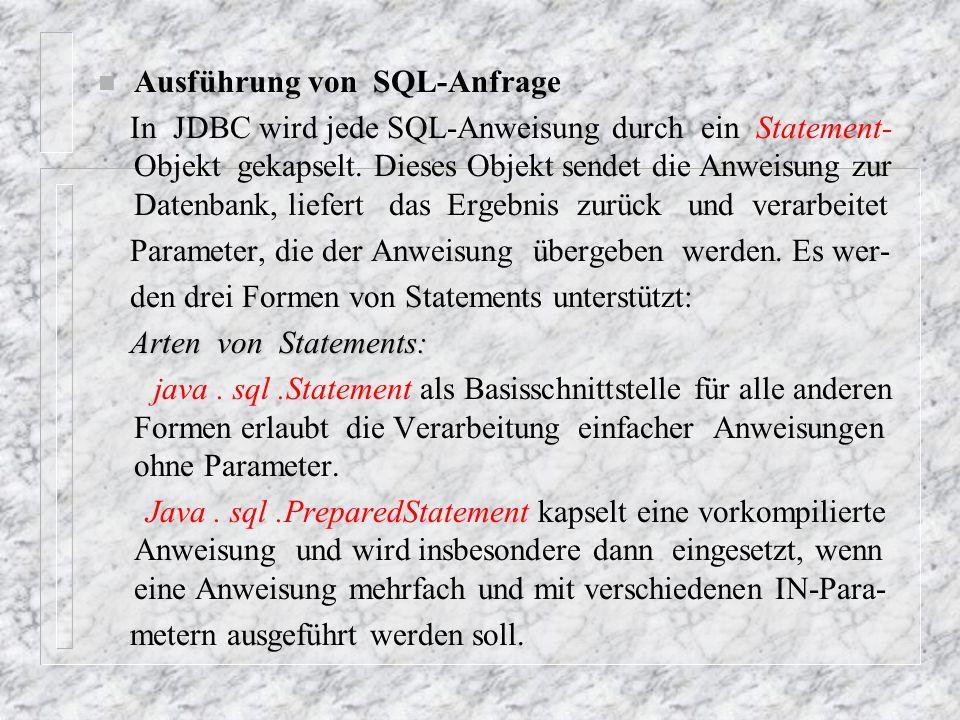 Ausführung von SQL-Anfrage