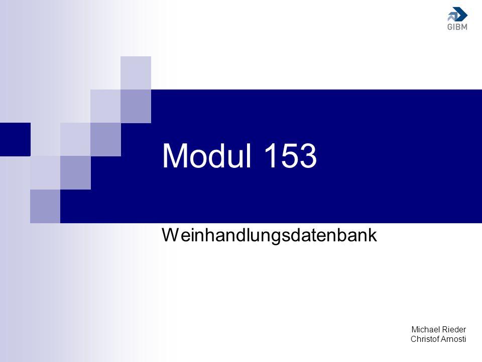 Weinhandlungsdatenbank Michael Rieder Christof Arnosti