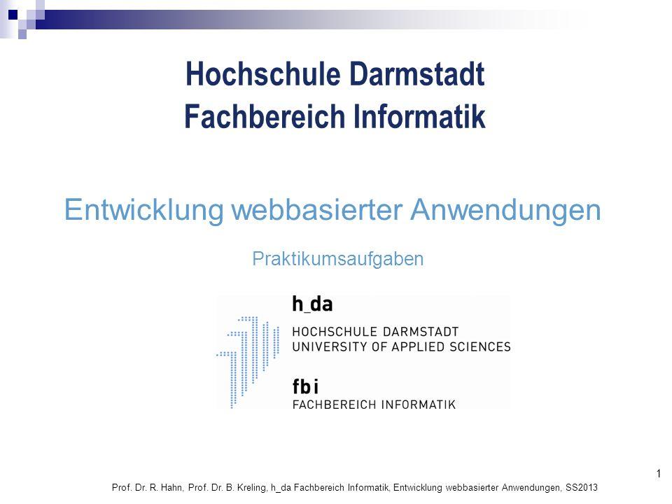 Entwicklung webbasierter Anwendungen
