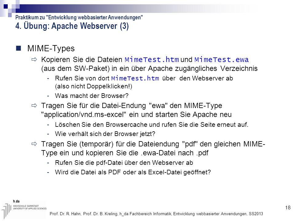 4. Übung: Apache Webserver (3)