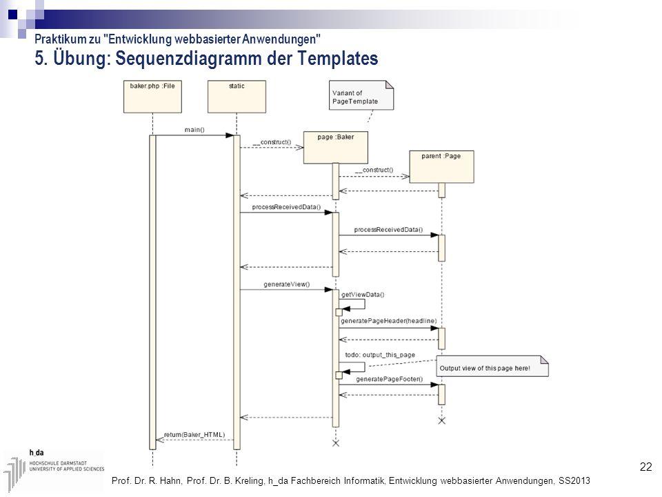 5. Übung: Sequenzdiagramm der Templates
