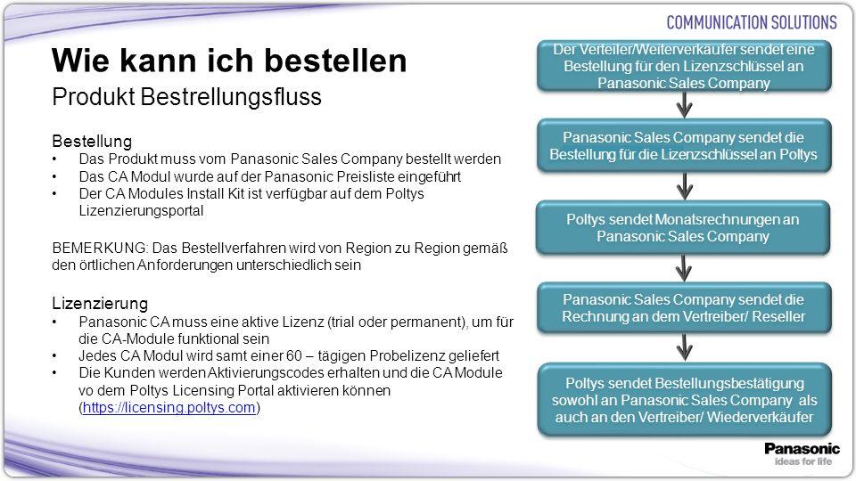 Poltys sendet Monatsrechnungen an Panasonic Sales Company
