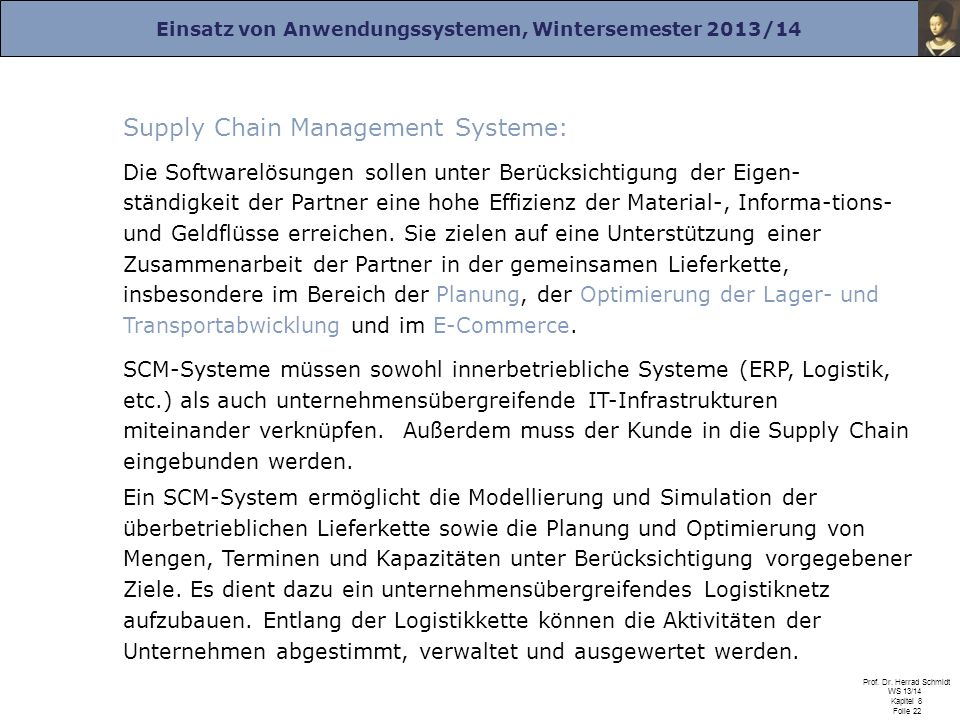 Supply Chain Management Systeme: