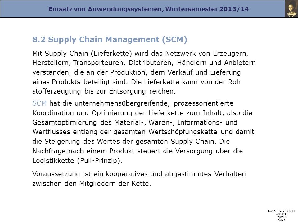 8.2 Supply Chain Management (SCM)