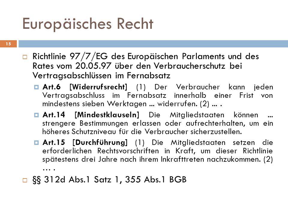Europäisches Recht