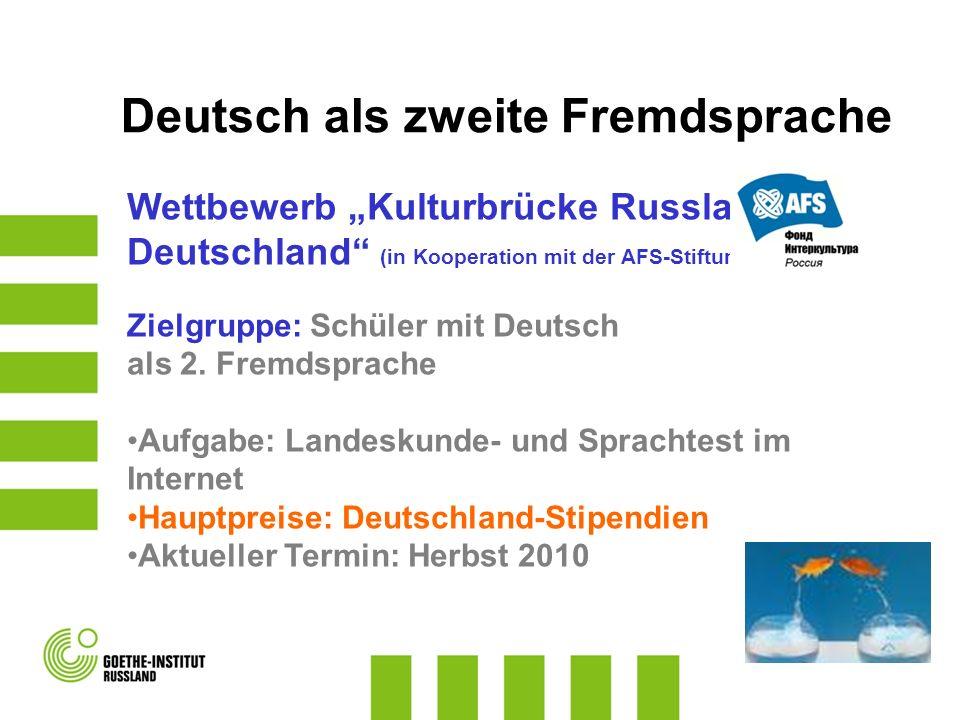 Deutsch als zweite Fremdsprache